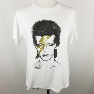 SOLD David Bowie Glam Rock White T Gold Lightning
